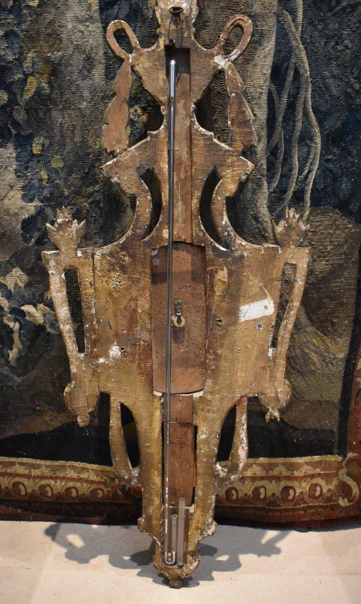 Baromètre Thermomètre En Bois Sculpté Epoque Louis XVI XVIII ème-photo-3