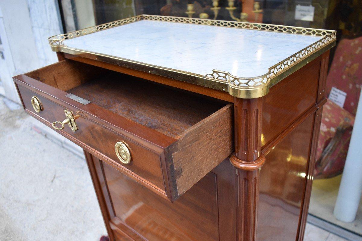 Secrétaire De Dame En Acajou Estampillé J.A.LECLERE Epoque Louis XVI XVIII ème-photo-4