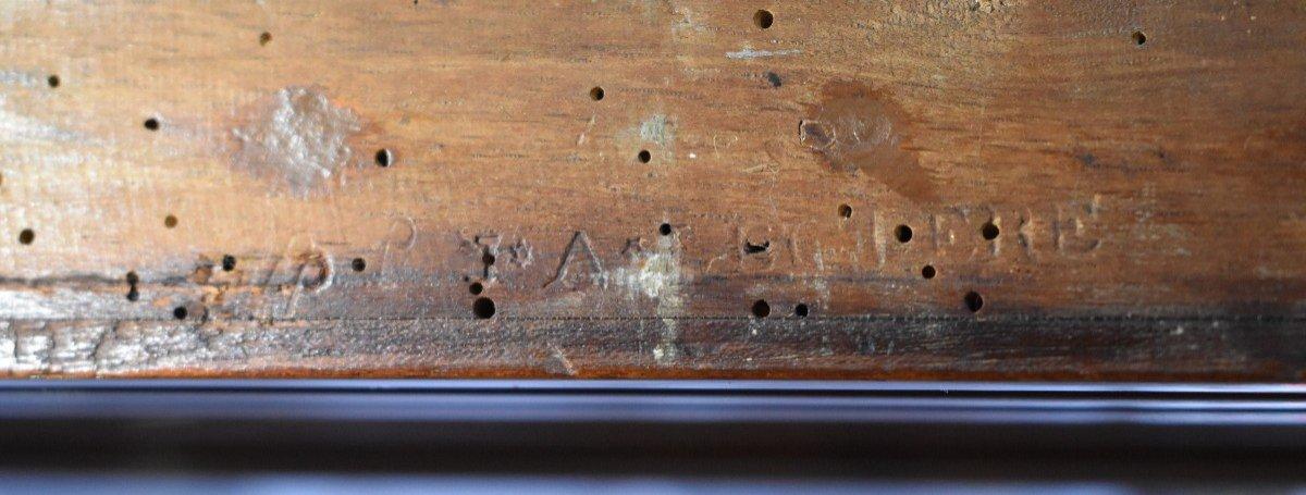 Secrétaire De Dame En Acajou Estampillé J.A.LECLERE Epoque Louis XVI XVIII ème-photo-6