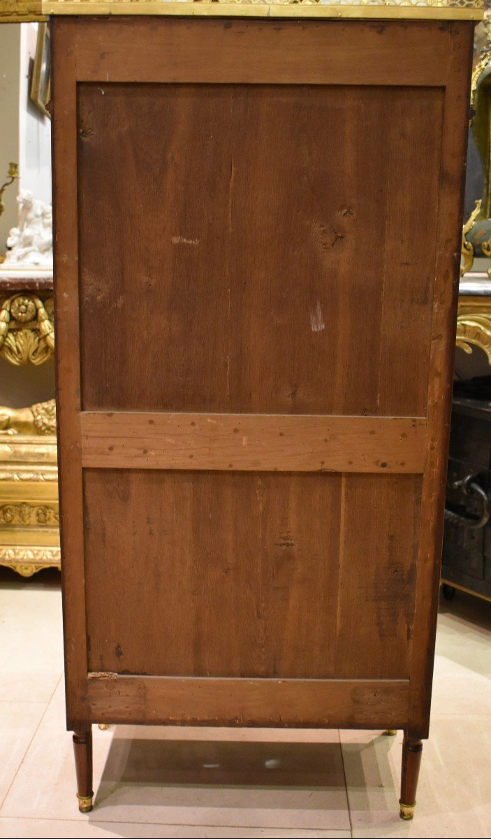 Secrétaire De Dame En Acajou Estampillé J.A.LECLERE Epoque Louis XVI XVIII ème-photo-8