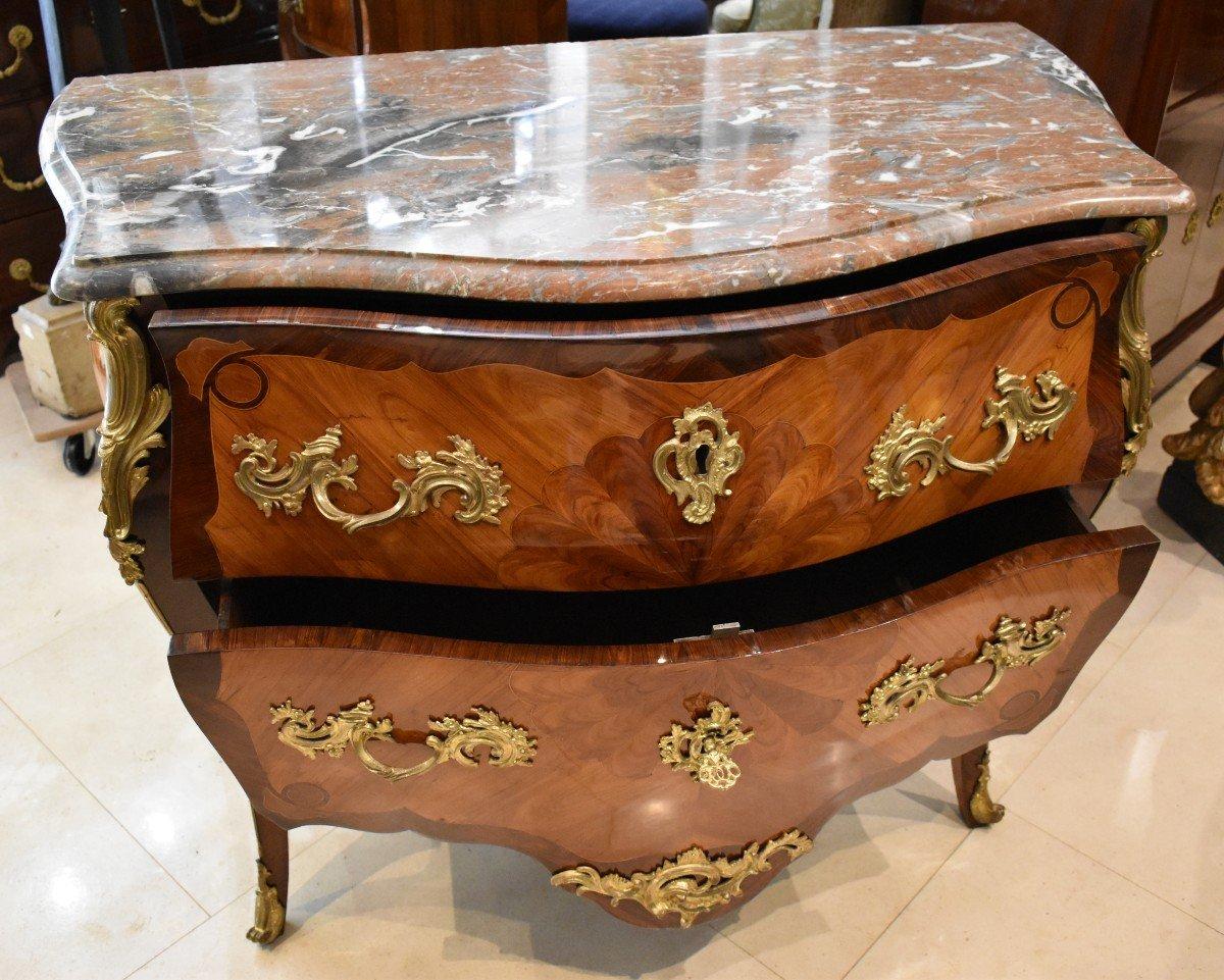 Commode Sauteuse Estampillée P. Roussel Epoque Louis XV XVIII ème-photo-3