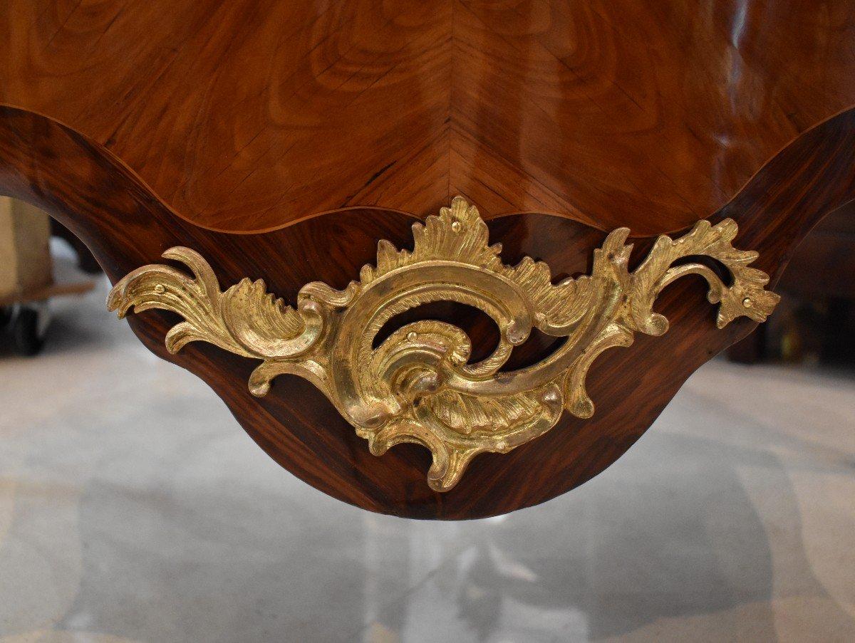 Commode Sauteuse Estampillée P. Roussel Epoque Louis XV XVIII ème-photo-6