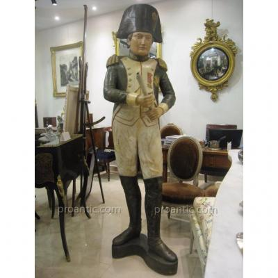 Great Statue Napoleon 1st Carved Polychrome Nineteenth