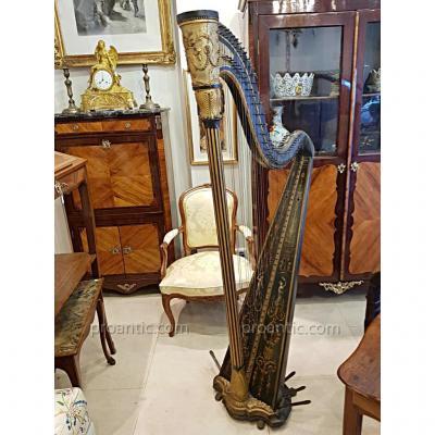 Harpe Epoque Louis XVI  Signée Renault