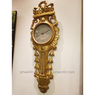 "Barometer ""by Bastin In Paris"" Louis XVI Period"