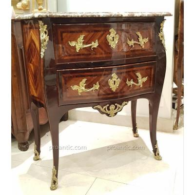 Commode Sauteuse Estampillée C. Revault Epoque Louis XV
