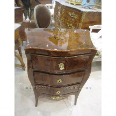 Small Italian Commode In Marquetry XVIII