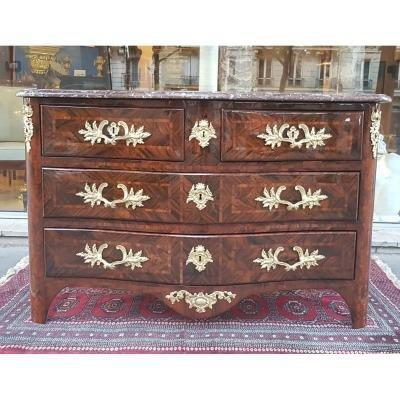 Louis XV Period Marquetry Commode Stamped Delorme XVIII