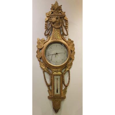 Baromètre Thermomètre Epoque Louis XVI XVIII ème