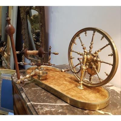 Rouet De Salon En Bronze Doré XVIII ème