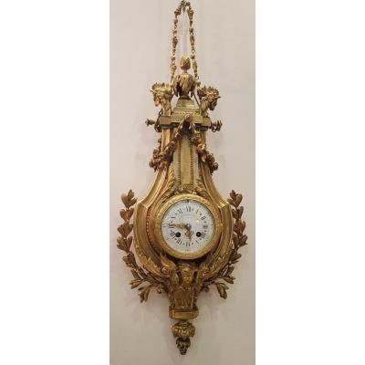 Cartel d'Applique  Signé Lemerle-Charpentier & Cie   En Bronze Doré XIX ème