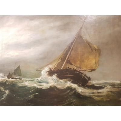 Peinture Marine XIX ème