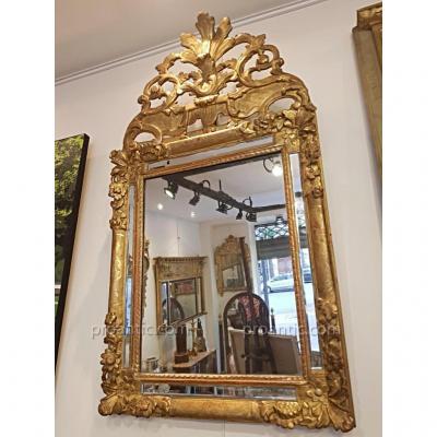 Miroir à Parecloses d'Epoque Régence XVIII  éme