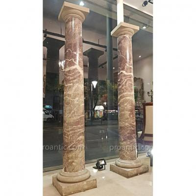 Important Pair Of Marble Columns XIX