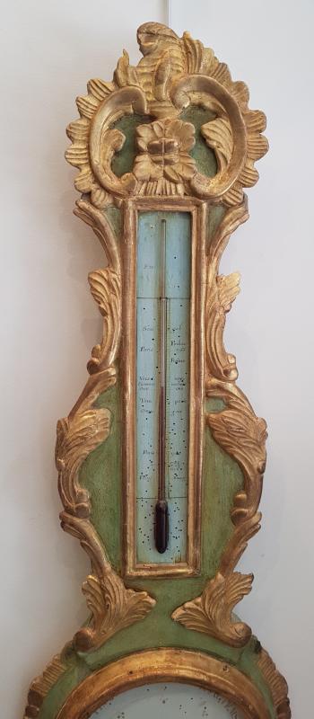 Baromètre Thermomètre d'Epoque Transition Louis XV / Louis XVI  XVIII ème-photo-3