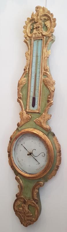 Baromètre Thermomètre d'Epoque Transition Louis XV / Louis XVI  XVIII ème-photo-4