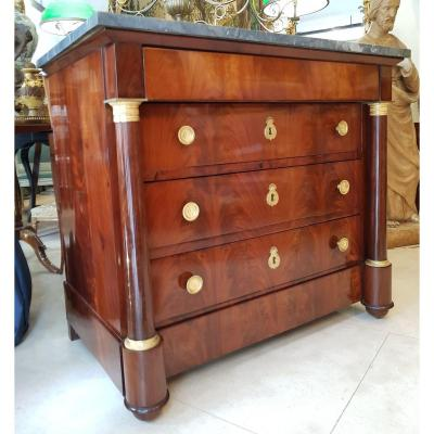 Commode En Acajou Epoque Empire