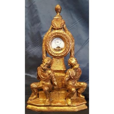 Watch Holder In Carved And Gilded Wood Louis XVI Eighteenth