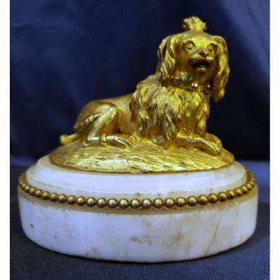 Presse Papier En Bronze Doré D'epoque Louis XVI XVIII ème
