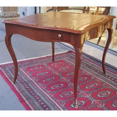 Table à Jeux En Acajou Epoque Louis XV XVIII ème