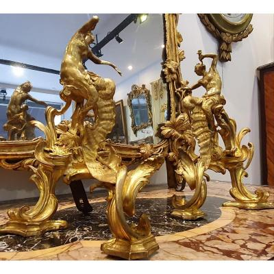 Pair Of Gilt Bronze Lights Louis XV Period XVIII