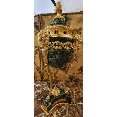 Importante Cassolette De Forme Athénienne Fin XIX ème