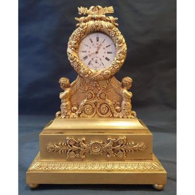 Porte-montre En Bronze Doré  d'Epoque Charles X XIX ème.