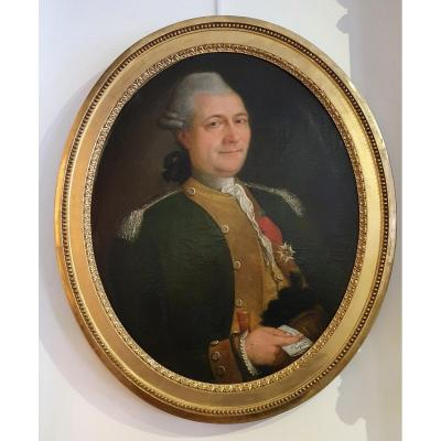 Portrait d'Un Officier Epoque Louis XVI XVIII ême