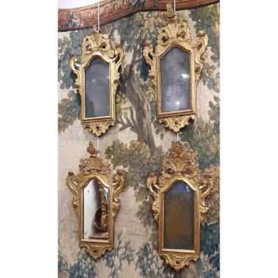 Suite De Quatre Miroirs d'Alcôve Venise XVIII ème
