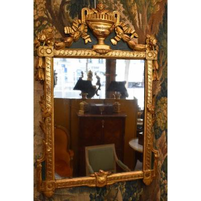 Mirror In Carved And Gilded Wood Louis XVI Period XVIII