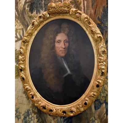 Portrait De Fagon Médecin Du Roi Louis XIV Attribué à Jean Jouvenet  XVII ème