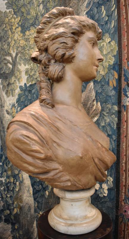 Buste De Jeune Fille En Terre Cuite d'Après Gois Epoque Napoléon III XIX ème -photo-3