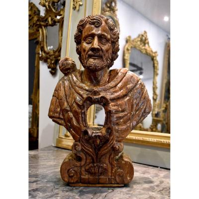 "Buste reliquaire ""Empereur Romain"" Italie fin XVII ème"