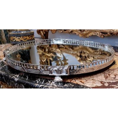 Especially Table In Silver Bronze Louis XVI Style XIX