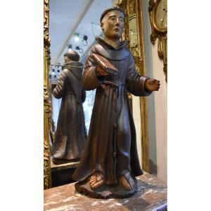 """""""Saint Antoine de Padoue"""" En Tilleul sculpté début XVIII ème"""