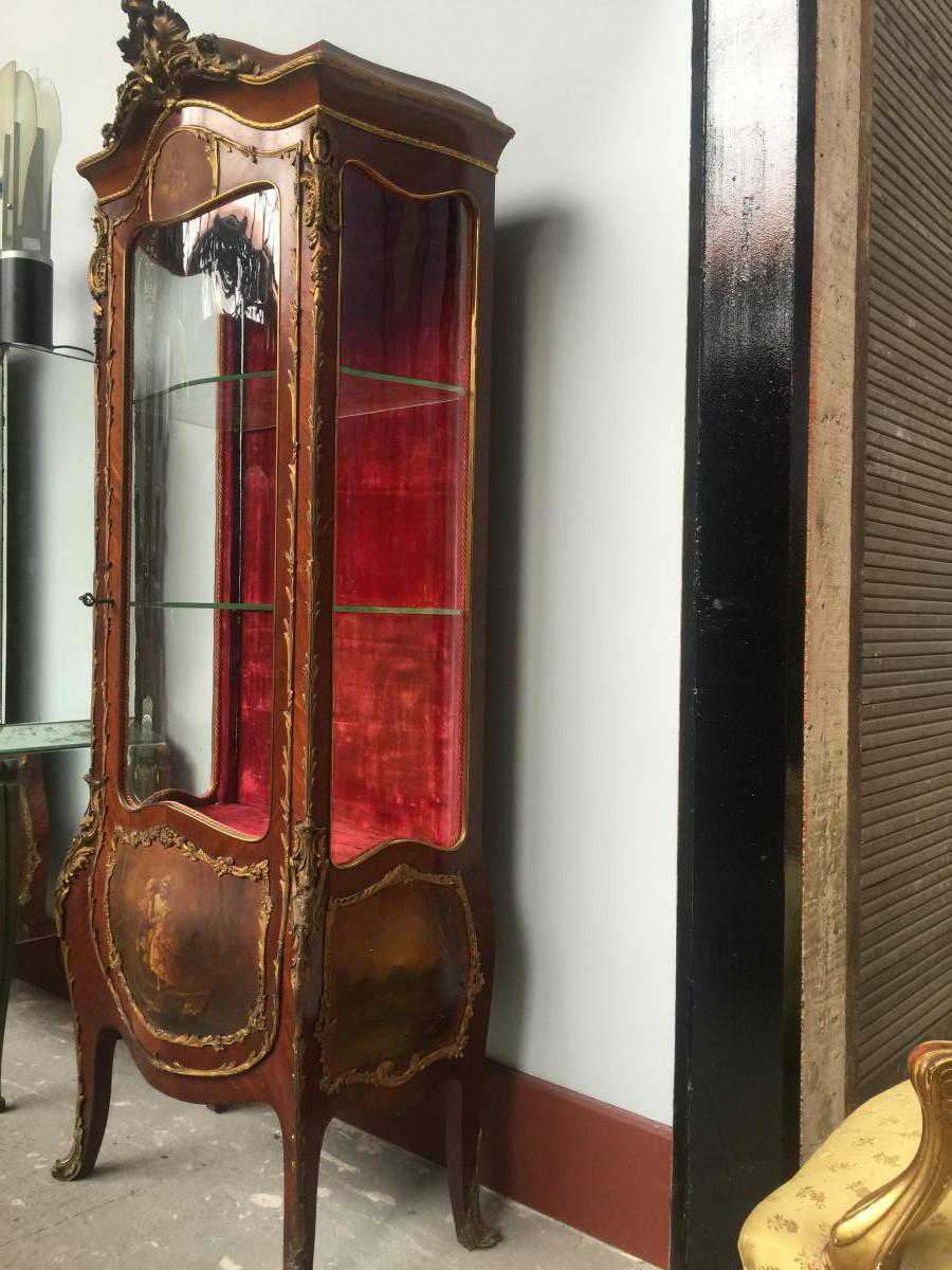Style Vitrine Louis XV End 19th - vitrine