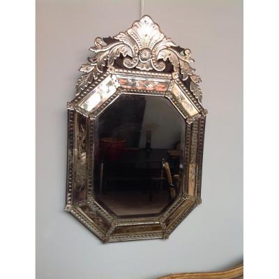 Miroir Vénitien d'Epoque Napoléon III