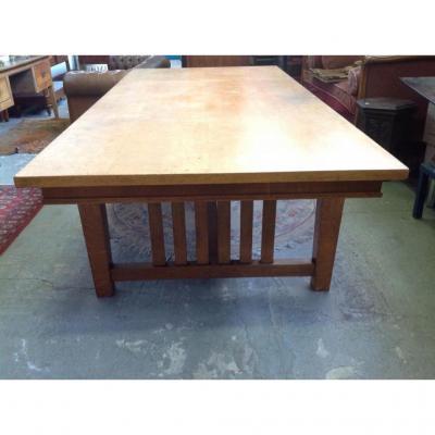 Grande Table En Chêne Vers 1950