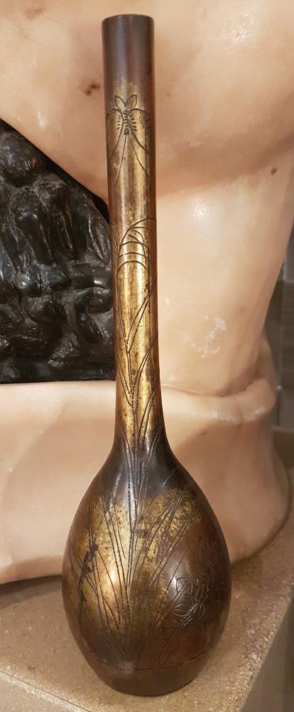 Japan Meiji Bronze Vase Soliflore