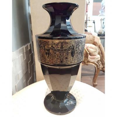 Vase En Cristal Violet Moser Karlsbad