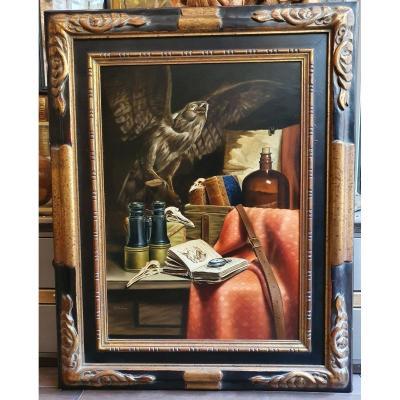 Cabinet Of Curiosities : Oil On Panel By Stefaan H.j. Eyckmans.