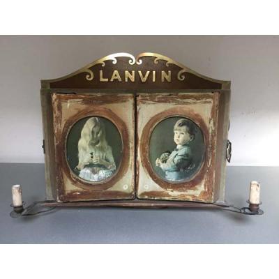 "Rare Presentoir Publicitaire ""lanvin"""