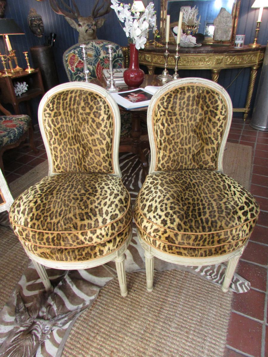 Pair Of Chairs Louis XVI Era Attributed To Georges Jacob