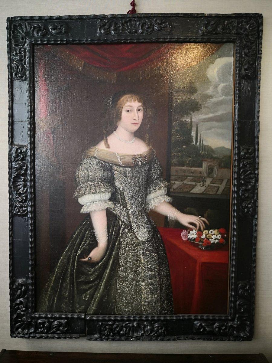 Portrait d'Anne-Marie Martinozzi, Princesse De Conti,  XVIIe Siècle