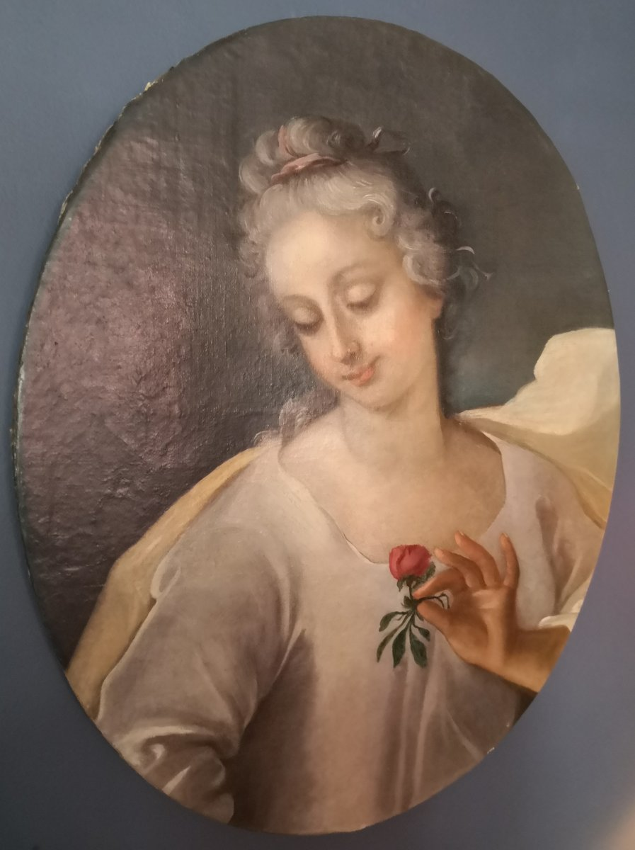 Portrait Of A Lady Of Quality In Flora, Eighteenth Century