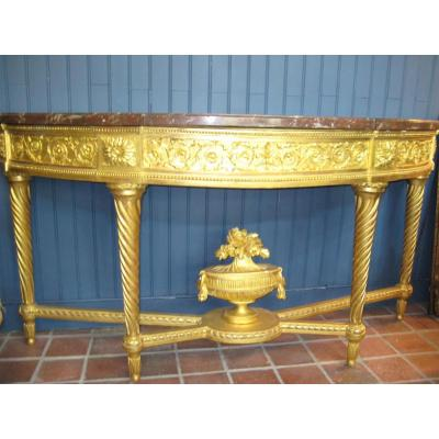 Large Console Table In Half Moon, Eighteenth Century