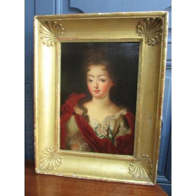 Portrait De Valentine De Chansiergues XIXème Siècle