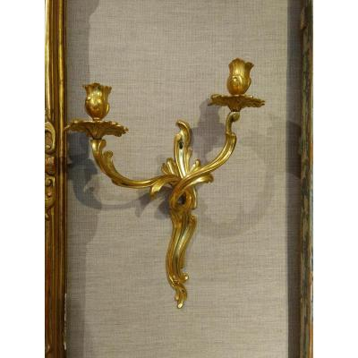 Pair Of Walls, Gilt Bronze Eighteenth Century