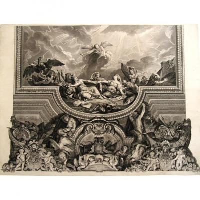 Episode De La Prise De Gand Par Louis XIV, Plafond De La Galerie Des Glaces à Versailles