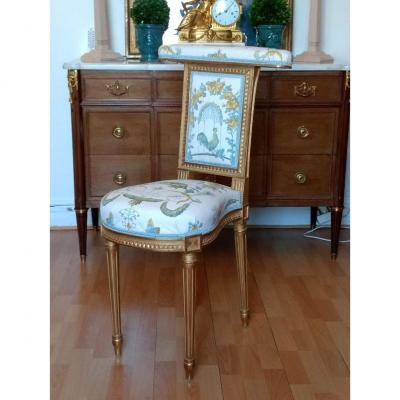 Louis XVI Voyeur Chair In Golden Wood